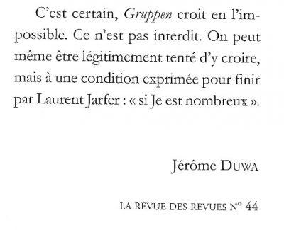 extrait La revue des revues n°44