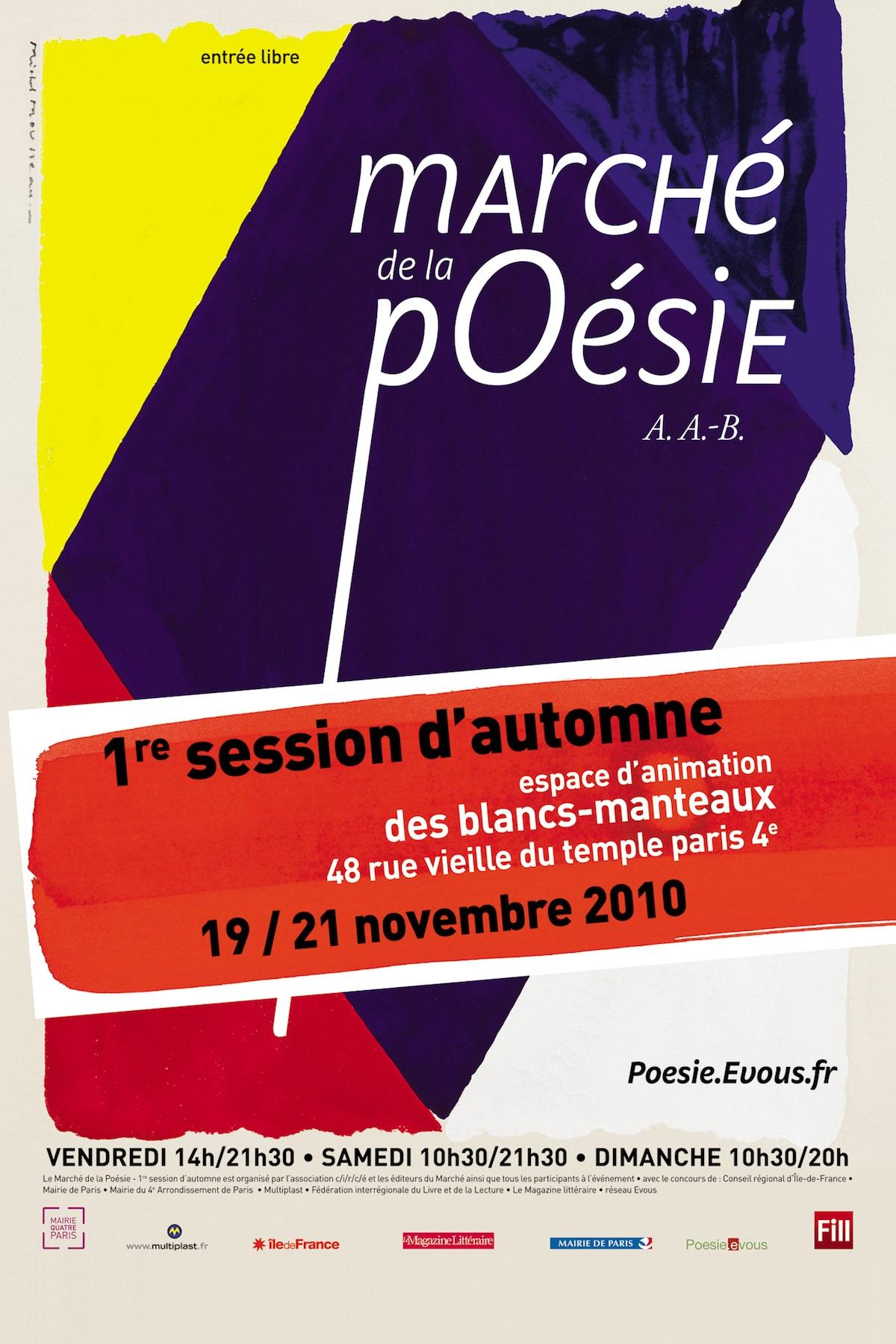 Marché poésie session automne 2010