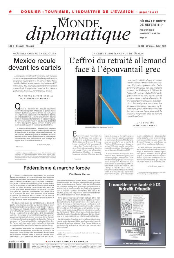 Monde Diplomatique juillet 2012