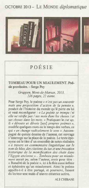 Monde Diplo Octobre 2013