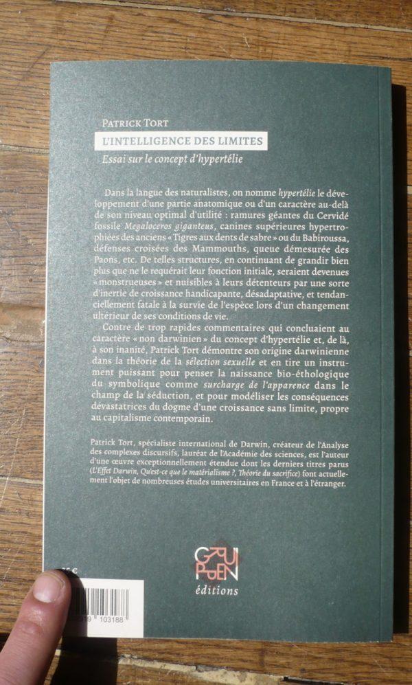 L'intelligence des limites (P.Tort) 4e couv