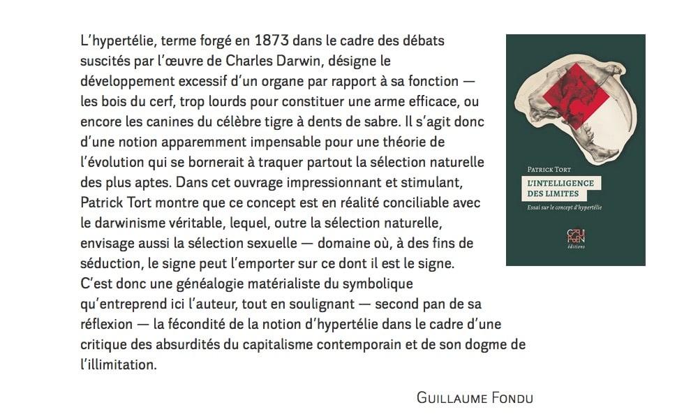 Article Tort, Monde Diplo oct 2019